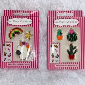2 Sets of Phone Removable Charm Set